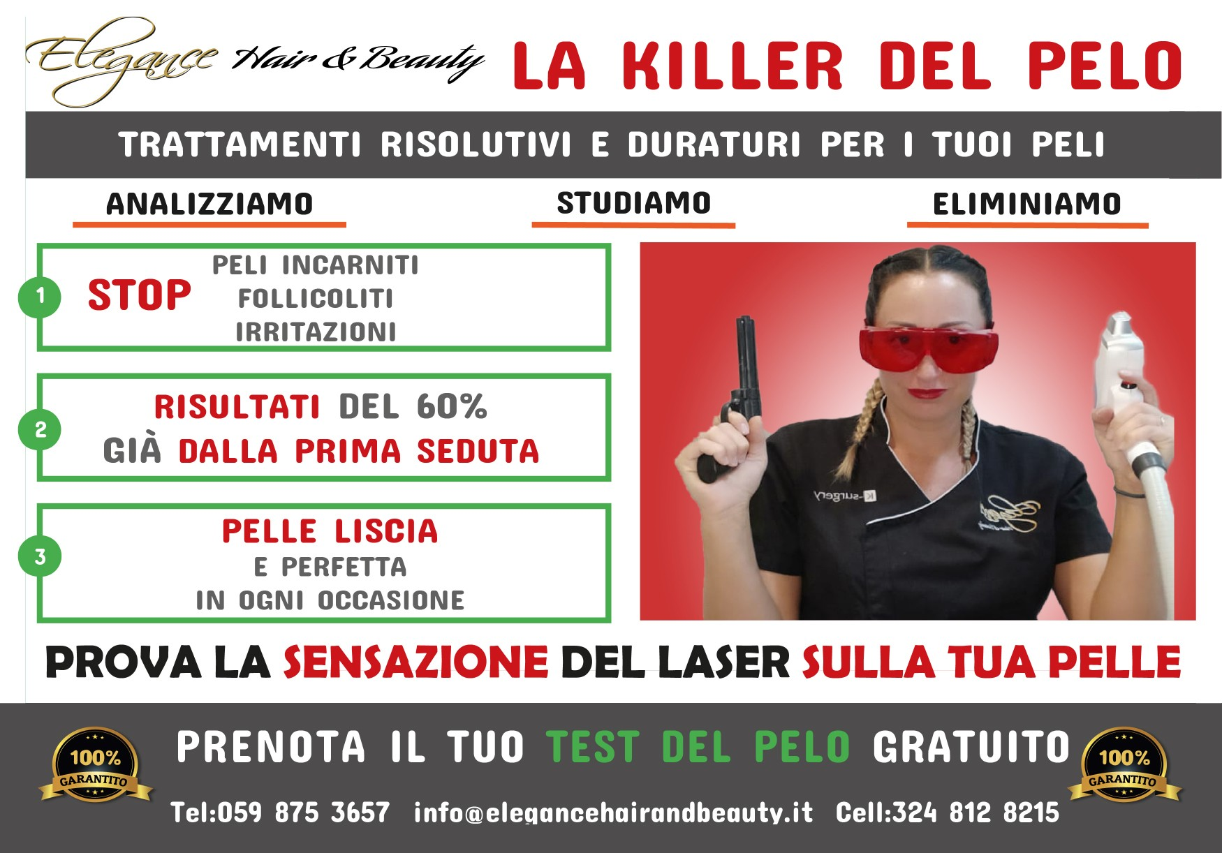 Consulenza per Depilazione o Epilazione laser a Modena